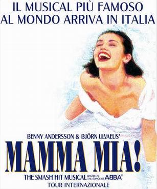 locandina spettacolo mamma mia a roma