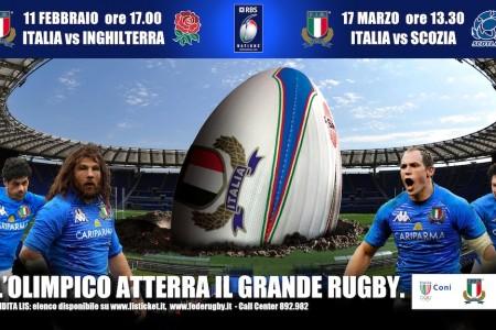 Rugby: il 6 Nazioni arriva all'Olimpico