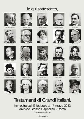 """""""Testamenti di grandi italiani""""."""