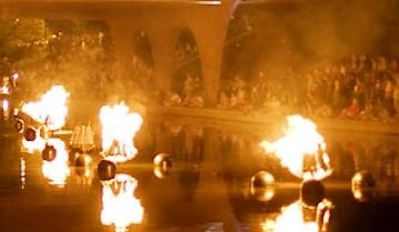 waterfire falò tevere roma