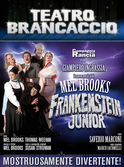 Frankenstein Junior Musical Roma al Brancaccio